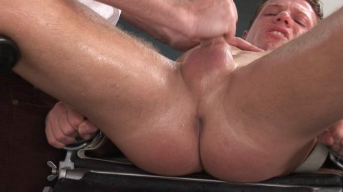 Oiled up straighty fucked